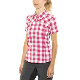 Gonso Wolga Bike Bluse 1/2 Arm Damen raspberry check